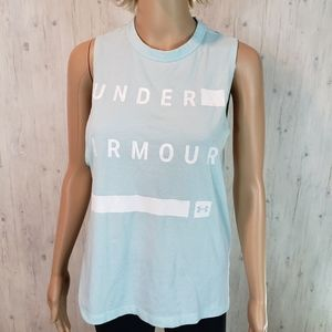 Under Armour Women's Tank Small Aquamarine White